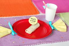 candy theme paper plates