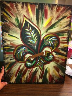 Fleur De Lis Feathered -Peace Of Art by MelKay (I take orders!)