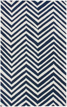 Rugs USA Homespun Chevron Blue Rug
