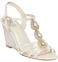 Adrianna Papell Pearl Wave Metallic (Champagne) Wedges