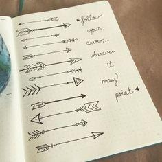 Doodles for Your Bullet Journal Boho Berry, Doodles, Arrow Tattoos, Tatoos, Bullet Journal Inspiration, Color Tattoo, Tattoo Inspiration, Small Tattoos, Body Art