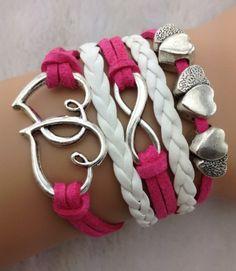 Pink Infinity Heart Set 19.99 www.jaydesboutique.com