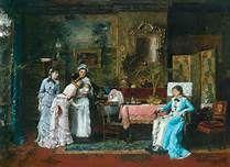 Munkácsy Mihály: Gyermeklátogatók (A baba látogatói) MNG, 1879 Spanish Artists, Victorian Art, Old Master, Canvas Art Prints, Contemporary Art, Fine Art, History, Gallery, Illustration
