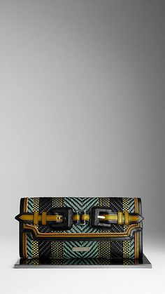 Burberry, multicolored alligator clutch.  Awesome!