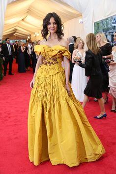 Katie Holmes in Marchesa @ The Met Gala 2014