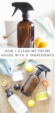 Create a non-toxic home with these natural cleaning with essential oils recipes. I share my 5 homemde cleaners with free printable labels. How I clean my entire house with 5 ingredients. Homemade natural cleaning products for all your cleaning needs. Natural Cleaning Recipes, Homemade Cleaning Products, House Cleaning Tips, Cleaning Hacks, Cleaning Supplies, Deep Cleaning, Essential Oil For Cleaning, Green Cleaning Products, Green Cleaning Recipes