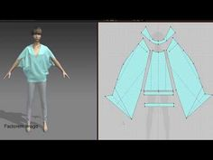 Обзор простой выкройки блузы - YouTube Fashion Sewing, Boho Fashion, Drape Dress Pattern, Fashion Design Software, 3d Video, Sewing Pants, Clothing Patterns, Sewing Patterns, Kimono Jacket
