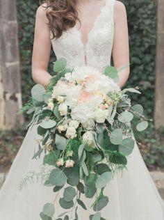 Cascading eucalyptus, roses and hydrangeas: http://www.stylemepretty.com/georgia-weddings/atlanta/2015/05/29/elegant-swan-house-garden-wedding-inspiration/ | Photography: Amanda Berube - http://amandaberube.com/