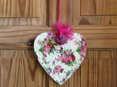 Home sweet home heart wall hanger vintage shabby chic wall