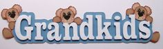 Title Piece for your layout Grandkids with teddy bears on Etsy, $4.75