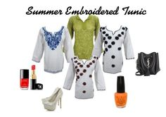 Summer Embroidered Tunic by mogul-interior on Polyvore featuring Yves Saint Laurent, OPI and Chanel
