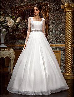 A-line Princess Square Floor-length Tulle Wedding Dress (612... – GBP £ 208.79