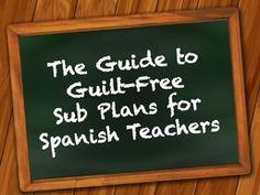 sub plans in the foreign language classroom Spanish Basics, Ap Spanish, Learn Spanish, Study Spanish, Spanish Lesson Plans, Spanish Lessons, Spanish Teacher, Spanish Classroom, Classroom Ideas