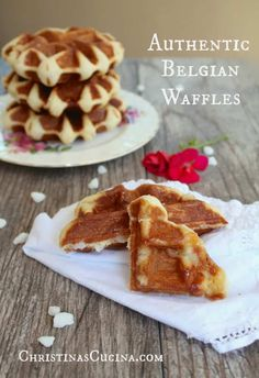 Authentic Belgian Waffles with a Waffle Recipe from Belgium. Authentic Belgian Waffles with a Waffle Breakfast Waffles, Pancakes And Waffles, Breakfast Recipes, Mexican Breakfast, Pancake Recipes, Breakfast Sandwiches, Breakfast Bowls, Liege Waffles Recipe, Leige Waffles