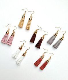 Tassel Earrings, Leather Earrings, Essential Oil Earrings, Diffuser Earrings, Leather Tassel Earrings, Shabby Chic Earrings Shabby Chic Earrings, White Earrings, Tassel Earrings, Etsy Earrings, Drop Earrings, Etsy Jewelry, Jewelry Crafts, Handmade Jewelry, Unique Jewelry