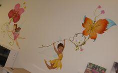 faries rosetta vlinder vlieger muurschilderingen