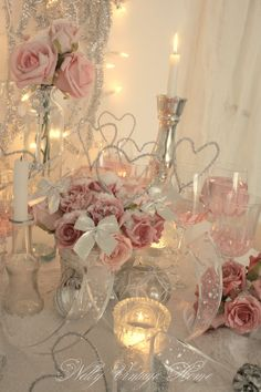 Wedding center pieces minus the hearts tho.