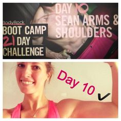 Day 10 - done ✋💪 Did one and a half rounds of the BC and then the burnout. I feel so good! 😊 My biceps is growing 😉 21 Day Challenge, Body Rock, Biceps, Challenges, Feelings, Tv, Tvs, Hard Bodies, Television Set