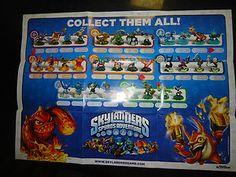 print spyros adventure character poster | Skylanders Poster Spyro's Adventure All 33 Characters | eBay