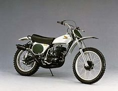 1974 Honda CR 250 Elsinore. When Honda rolled out the Elsinore line, motocross changed forever. These things were faster than anything on the track, and riders were snapping them up as fast as they could manufature them. They were the iPhone of motocross bikes back in the day.
