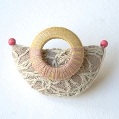 love the composition of this textile brooch - mimapaint
