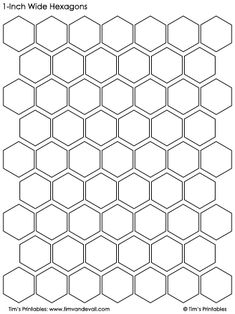 hexagon templates 1-inch wide black and white Creative Arts And Crafts, Arts And Crafts Projects, Sewing Projects, Printable Stickers, Planner Stickers, Paper Background Design, Astrology Tattoo, Shape Templates, Hexagon Quilt