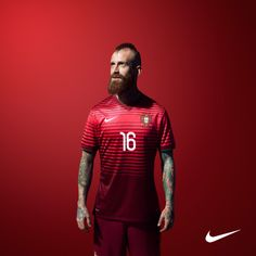 Raul Meireles a staple to The Seleçao as Quinas - you may not recognize him since he is rocking his Turkish-like beard - he just gets that little bit stranger every time we see him. Hope he has a good World Cup.