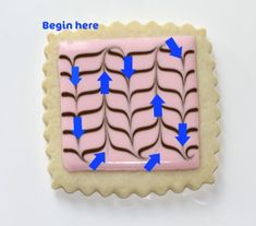 Marbling royal icing | how to