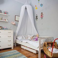 Canopy-Bed-Netting-Mosquito-Bedding-Net-Play-Tents-For-Baby-Kids-Cotton-2-Colors