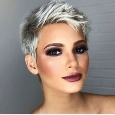 Very short pixie cut