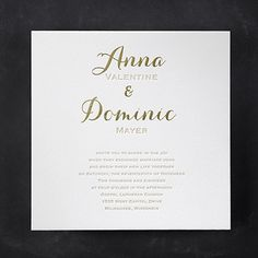 Joyous Spectacle Elegant White Square Wedding Invitations http://partyblock.carlsoncraft.com/Wedding/Wedding-Invitations/3124-BS32109FW-Joyous-Spectacle--Invitation--Lettra-Fluorescent-White.pro
