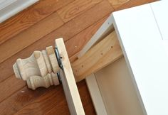 add foot base with bolts to bottom of furniture (Diy Furniture Upcycle) Furniture Repair, Furniture Projects, Furniture Making, Furniture Makeover, Cool Furniture, Modern Furniture, Furniture Design, Furniture Stores, Furniture Outlet