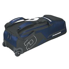Equipment Bags 50807: Demarini Momentum Baseball/Softball Wheel Bag - Navy BUY IT NOW ONLY: $64.95