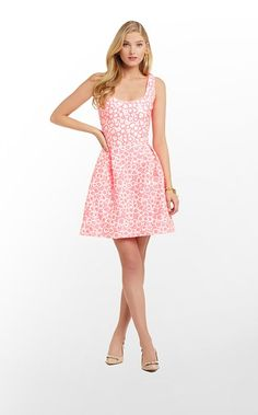 Joslin Dress in Fiesta Pink Textured Cotton Jacquard $228 (w/o 3/9/13) #lillypulitzer #fashion #style