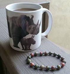 Morning coffee, #rhino style. Happy #NationalCoffeeDay!