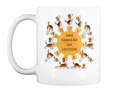 Beagle Doing Yoga Poses 14 Colors White Mug Front Yoga Tips, Best Yoga, How To Do Yoga, Beagle, Yoga Poses, Just For You, Mugs, Colors, Beagle Hound