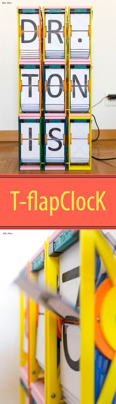 Old fashioned flap clock with 3D printed parts.