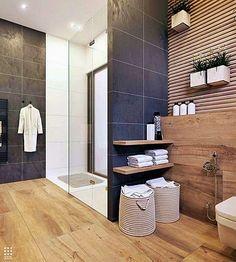 Fabulous Luxurious Bathroom Design Ideas You Need To Know Neutral Bathroom Tile, Dark Gray Bathroom, Modern Master Bathroom, Modern Bathroom Design, Bathroom Interior Design, Bathroom Layout, Bathroom Designs, Cheap Bathrooms, Large Bathrooms