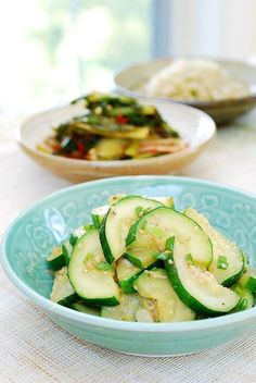 A simple Korean side dish made with summer's abundant zucchini! Hobak bokkeum (stir-fried zucchini).
