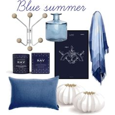 Blue Summer by wenche-andersen on Polyvore featuring interior, interiors, interior design, home, home decor, interior decorating and Elvang