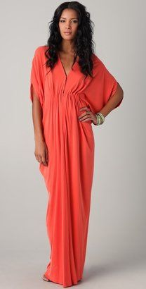 ShopStyle: Issa Long Ruched Caftan Dress