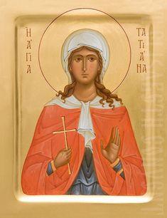 The Icon Painting Studio of St Elisabeth Convent will paint icons of Holy Martyr Tatiana Orthodox Catholic, Catholic Art, Painting Workshop, Painting Studio, Religious Icons, Religious Art, Roman Consul, Sainte Cecile, Paint Icon