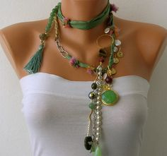 White Pearl  Handmade Beaded Chains by mislady on Etsy, $60.00