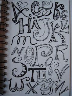 Letter doodles.