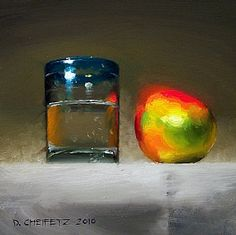 Mango & Agua by David Cheifetz Oil ~ 6 x 6