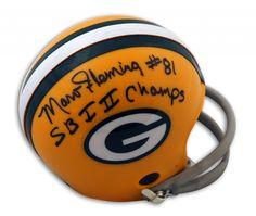 "AAA Sports Memorabilia LLC - Marv Fleming Green Bay Packers Autographed Mini Helmet Inscribed ""SB I II Champs"", $67.95 (http://www.aaasportsmemorabilia.com/nfl/green-bay-packers/marv-fleming-green-bay-packers-autographed-mini-helmet-inscribed-sb-i-ii-champs/)"