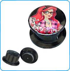 Fashion Epoxy Picture Acrylic Ear Plugs Wholesale Body Jewelry Ear Gauges