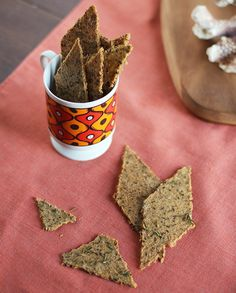 Rosemary, Parmesan & Black Pepper Whole Grain Crackers (whole flax seeds, cooked brown rice, cooked quinoa)