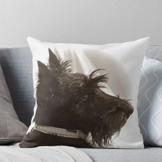 """Primitives By Kathy NEW Whimsical DOG 16/"""" x 16/"""" Cotton Blend Accent Pillow"""