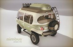 Nimbus is a concept e-car made for both short distances in urban areas and longer trips in varied terrain.